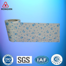 One color printed PE nonwoven lamination film materials manufacturer for baby diaper