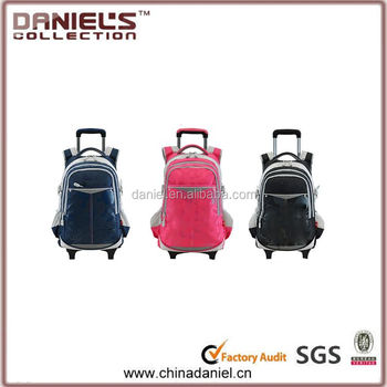 New style hot-sale school trolley bags for boy