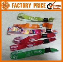 2015 Polyester Custom Woven Wristbands For Events