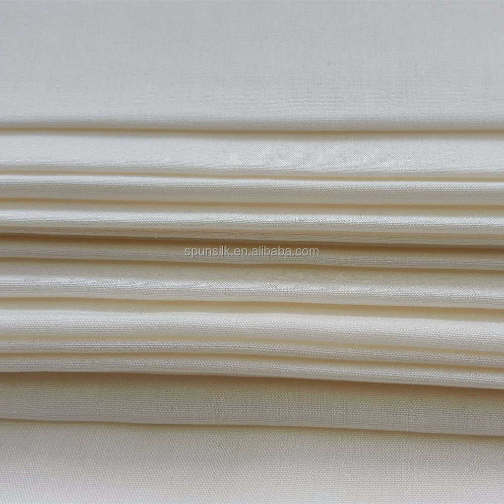 Cheap Price 8 Pounds Plain White Silk Viscose Satin Fabric With Free Samples