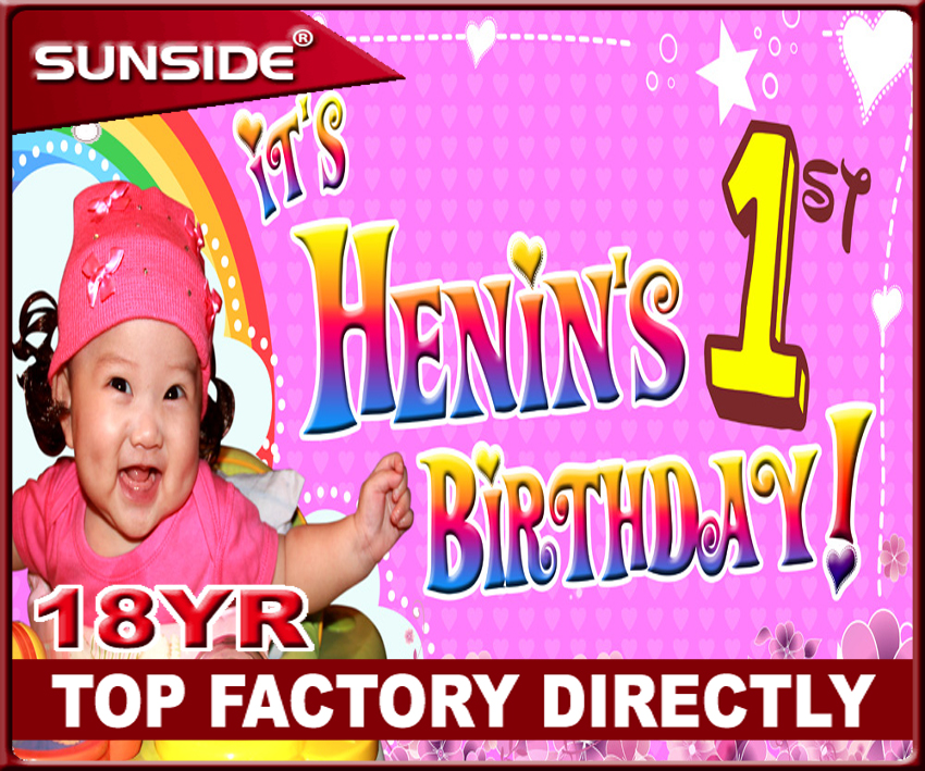 pvc banner happy birthday banner use 6 feet flex banner printing machine V-0829