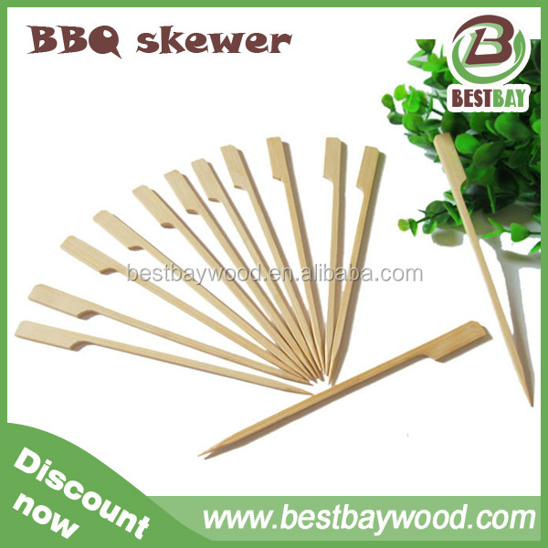 Teppo/flag/gun/golf bamboo bbq skewer Made in China factory direct sell