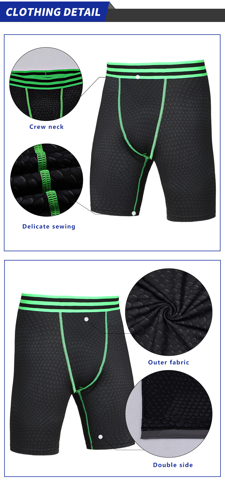 custom Fitness men gym swimwear cycling boxer leggings tight sports shorts