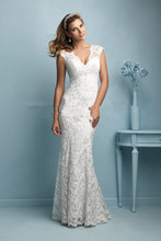 Z92353A 2017 Hot Salling Deep V-neck Wedding Dress Sweetheart Love Forever Fishtail Wedding Dress