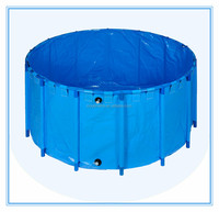 Hot selling PVC foldable liner round koi fish tank