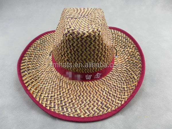 China gold manufacturer Nice looking perfect wheat straw hat for cowboy