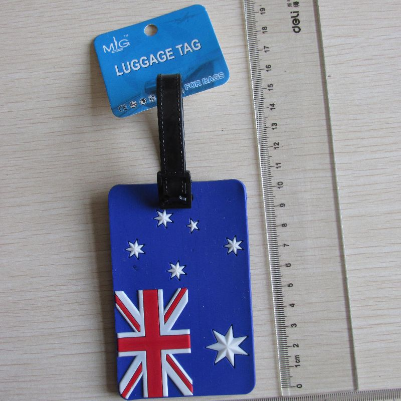 Top fashion different types reusable plastic luggage tag for wholesale