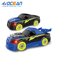 Kids intelligent diy assembly racing car model assemble toys with light and sound