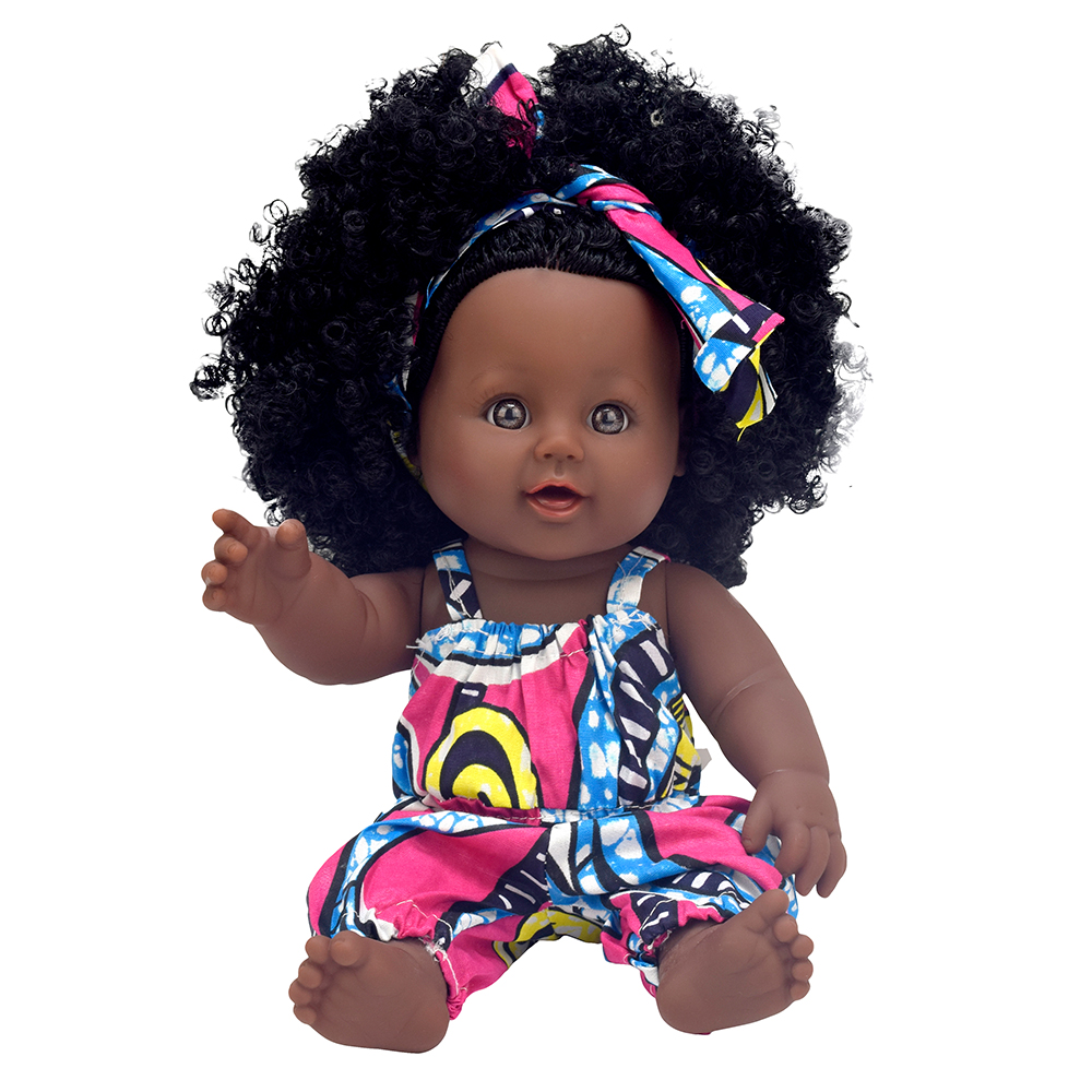 Top Sales Plastics 12inch african american fashion black baby <strong>doll</strong> for girl <strong>doll</strong> manufacturer China