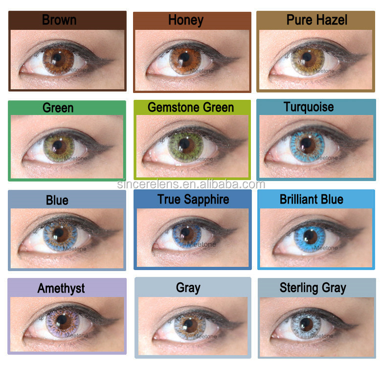 Real Korea Contacts 12 Colors Fresh Eye Look 3 Tone Wholesale Cheap Colored Contact Lenses