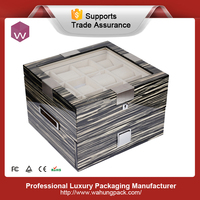 Special Design 24 Pillows Wooden Box for Watches Storage (WH-S-062)