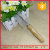 Dog grooming tools hand made wooden handle metal pins double pet comb
