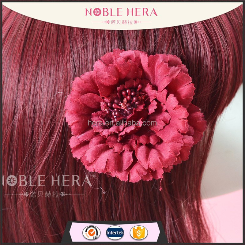 Fabric marigdd flowers hair clips traditional chinese hair accessories