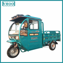 Semi-closed Electric tricycle for passenger and cargo/easy operate body opened tricycle /trike/2 seats tricycle for eldly