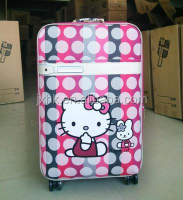 2016 fashion hand pull luggage and travel rolling suitcase