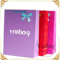Custom luxury paper bag packing with company name