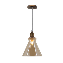 Vintage Industrial Antique Furniture Glass Pendant Light