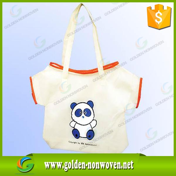 eco friendly non woven T-shirt storage bag/New design Vest Type PP bag/china factory direct sell nonwoven material