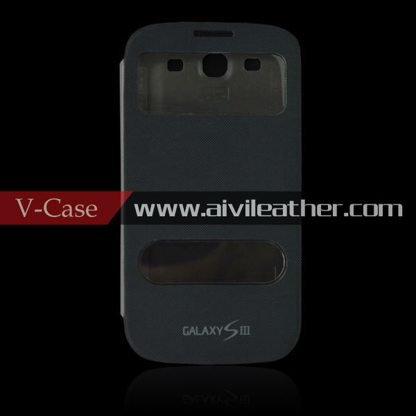 For Samsung Galaxy S3 i9300 flip leather battery cover, for Galaxy S3 i9300 battery cap