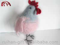 handmade animal wool felt home decoration hen