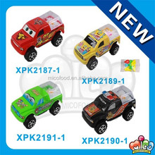 assorted mini toy car with candy