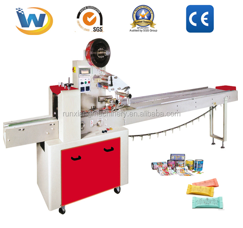 Automatic Pillow Bar Small Chocolate Biscuit Wrapping Packing Machine For Cadbury And Oats