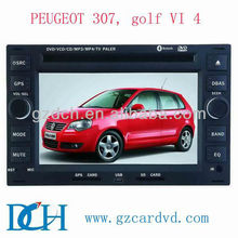 volkswagen golf 4 car dvd car radio gps navigation for peugeot 307, golf VI 4 WS-7016