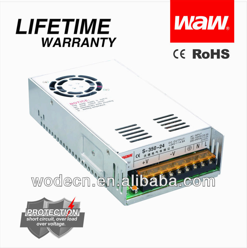 48v 350w CCTV Camera/LED Strips/LCD power supply unit with CE ROHS approved