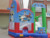 Inflatable cartoon animal crown theme jumping bouncer castle with slide