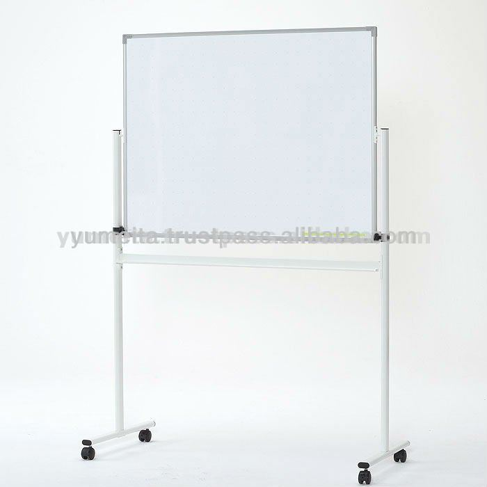 High Quality Japanese Design Furniture Free Standing Reversible Whiteboard with Tray