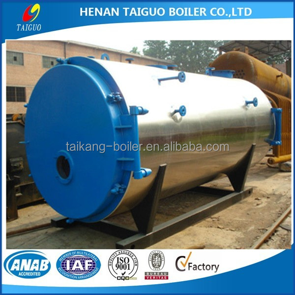 New technologies China supplier of 0.7 MPa gas oil fired steam Boiler price