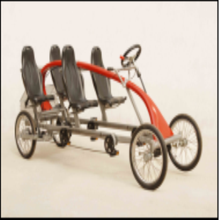 "16"" FOUR PEOPLE LEISURE BIKE DOUBLE INNER 3 SPEEDS"