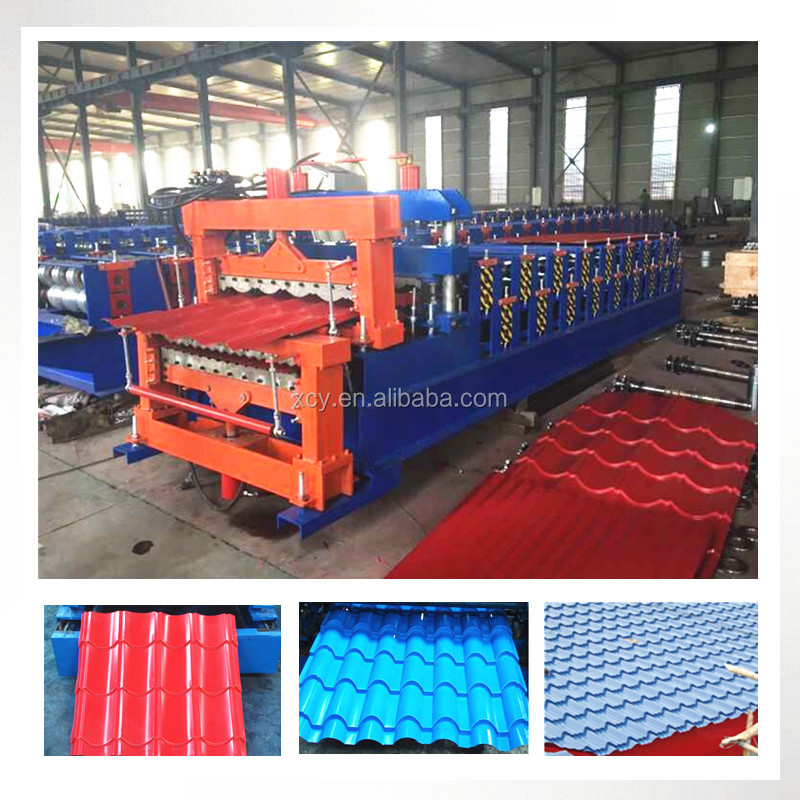 High Quality Corrugated Double Layer Roofing Shingles Roll Forming Making Machine types Manufacture