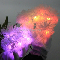 Party favor Glow in the dark gloves,Cotton nylon led gloves,Flashing gloves led glove light