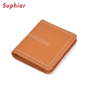 Personalized Leather Accessories Vertical Billfold Wallet+Simple Bifold Leather Wallet