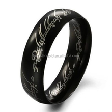 Black LOTR Lord of the Rings Tungsten The One Ring 8mm Wedding Band