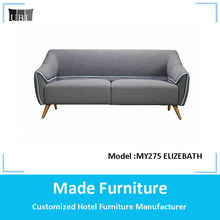 Retro fabric 3 seater sofa furniture with strong side line MY 275