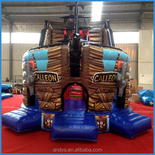 Commercial quality inflatable pirate ship bouncer hot selling in UK