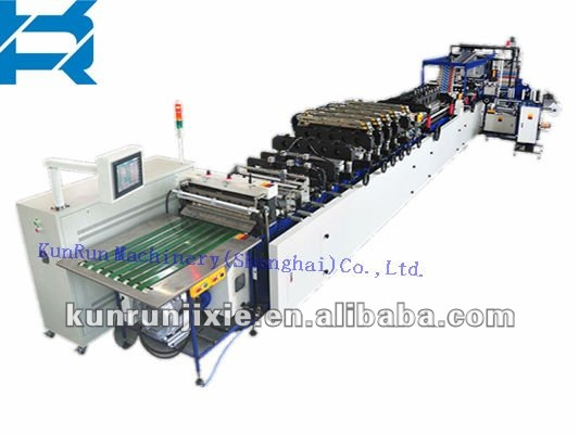 box pouch with zipper bag making machine, special model bag machine.