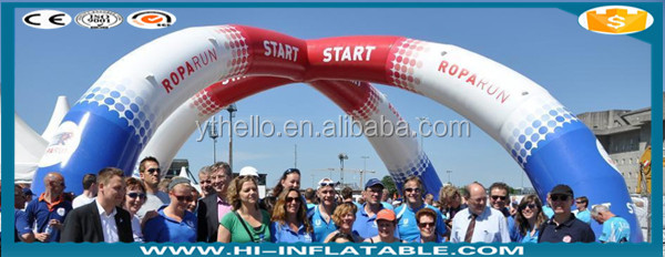 Customizable logo inflatable entrance finish line advertising arch;ROPARUN START & FINISH ARCH