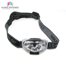 super bright AAA battery led headlamp with red strobe and custom elastic