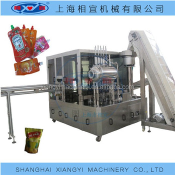 Hydrogenized Water pouch filling sealing machine/ spout pouch filling capping machine Japan