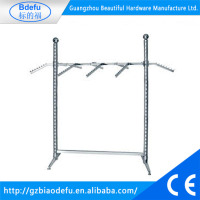 Durable metal garment hanging stand for coat stand/t shirt display racks display shelves