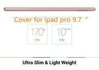 Ultra Thin Slim Leather Flip cover for ipad pro 9.7 inches PC Case Back Cover for iPad Pro 9.7 tablet case