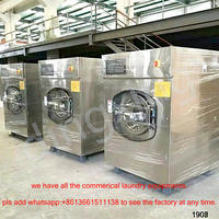 commercial hotel use laundry equipment Automatic washer extractor used in laundry hospital hotel 30kg commercial washing machine