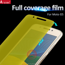 new products flexible yellow tpu screen protector for motorola G5