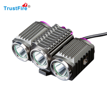 TrustFire D012 Super Bright Bicycle Light Set - USB Rechargeable Bike Headlight Front Lamp and LEDTaillight for Cycling Safety