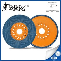5'' Zirconia Alumina Abrasive Flap Discs for Stainless Steel with plastic backing