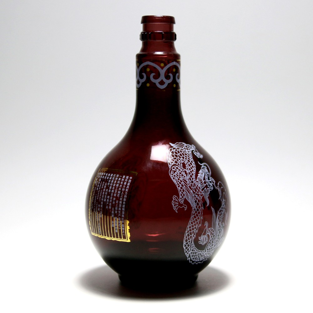 factory price 550ml amber glass bottle wine