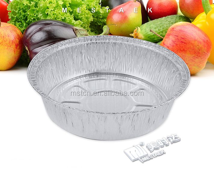 1500 ml oven safe round aluminum foil takeaway container pizza pan